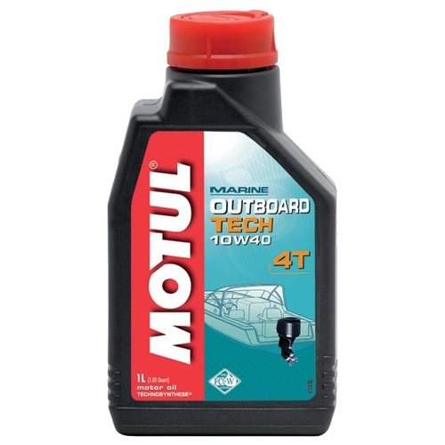 Полусинтетическое моторное масло Motul Outboard Tech 4T 10W40, 1 л