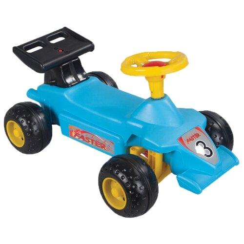 Купить Каталка-толокар pilsan Super Race Car (06808) со звуковыми эффектами голубой, Каталки и качалки