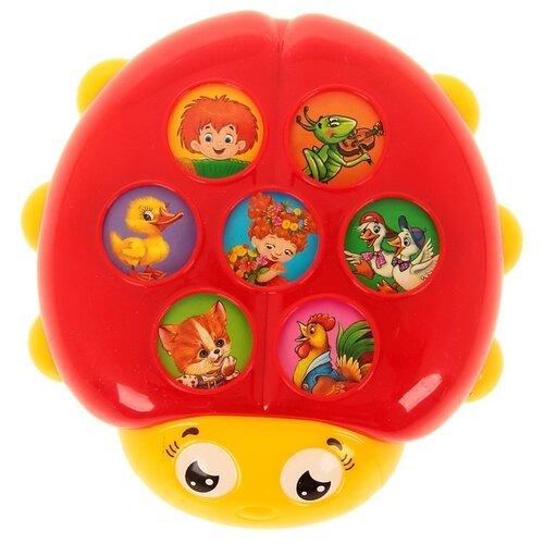 Интерактивная развивающая игрушка Азбукварик Плеер Кроха. Божья коровка красный/желтый