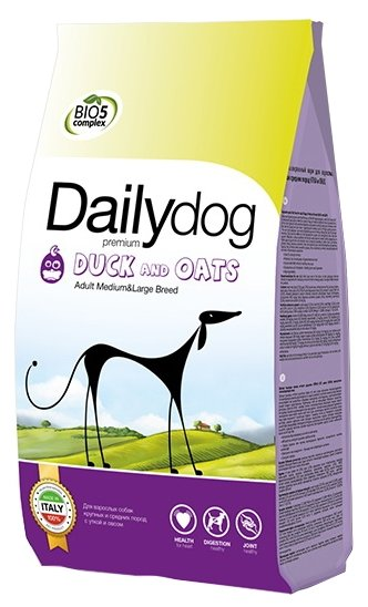 Корм для собак Dailydog Adult Medium and Large Breed Duck and Oats