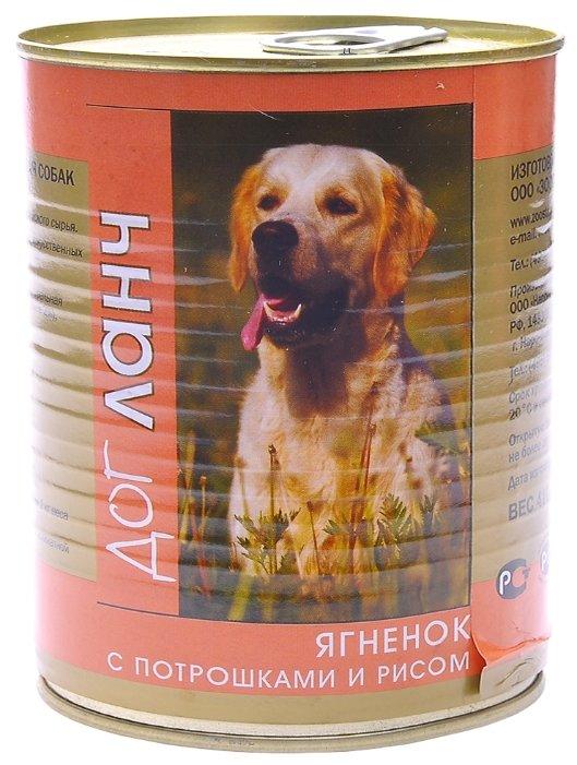 Корм для собак Dog Lunch (0.75 кг) 9 шт. Ягненок с потрошками и рисом в желе для собак