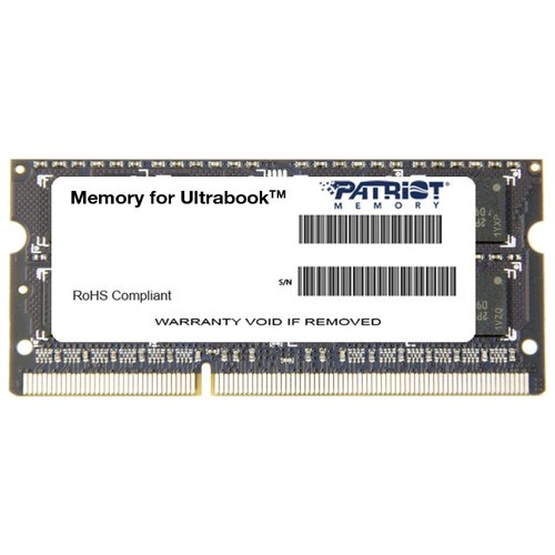 Оперативная память Patriot Memory SL 4GB DDR3L 1333MHz SODIMM 204-pin CL9 PSD34G1333L2S