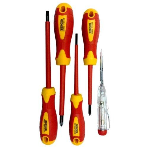 Набор отверток BERGER (5 шт.) BG1065Наборы инструментов и оснастки<br>
