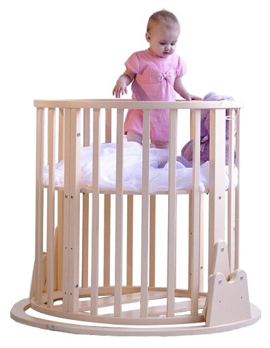 Кроватка MICCA OVAL_BED (трансформер)