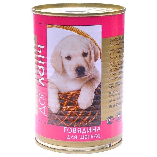 Корм для собак Dog Lunch Говядина в желе для щенков (0.41 кг) 1 шт. корм смайли говядина в желе 750g для собак 81069