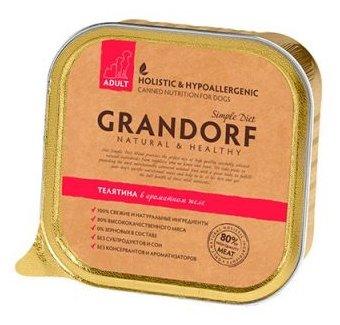 Корм для собак Grandorf Телятина для взрослых собак всех пород