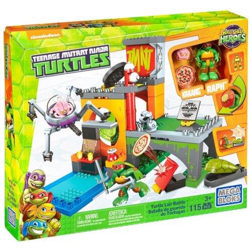 Купить Конструктор Mega Bloks Teenage Mutant Ninja Turtles DMX12 Битва в логове черепашек, Конструкторы