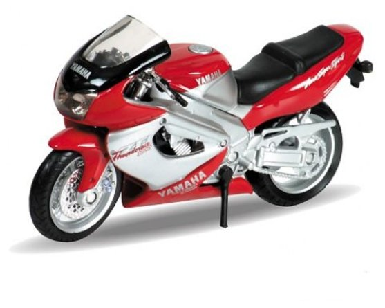 Модель мотоцикла Welly модель мотоцикла 1:18 Yamaha 2001 YZF1000R Thunderace 12154P красно-серебристая