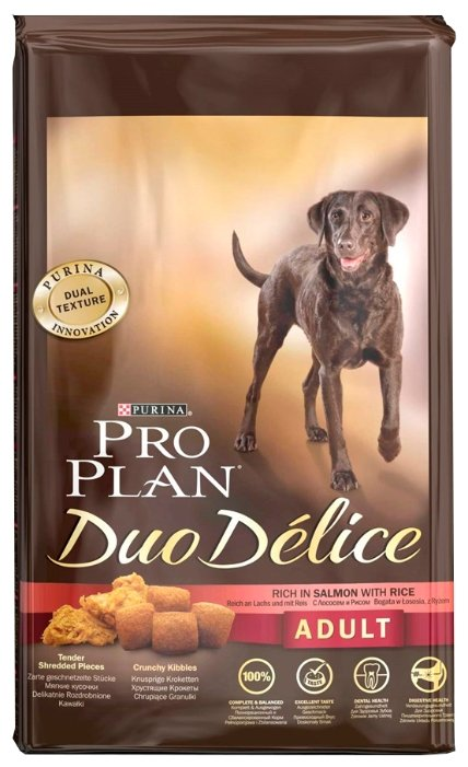 Purina Pro Plan (10 кг) Duo Delice Adult сanine rich in Salmon with Rice dry