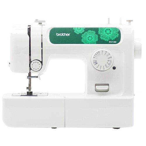 Фото - Швейная машина Brother RS-100, бело-зеленый швейная машина brother artcity 170s бело синий