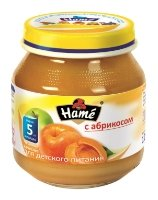 Пюре Hame с абрикосом (с 5 месяцев) 125 г