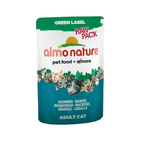 Корм для кошек Almo Nature Green Label Raw Pack Adult Cat Mackerel (0.055 кг) 12 шт.