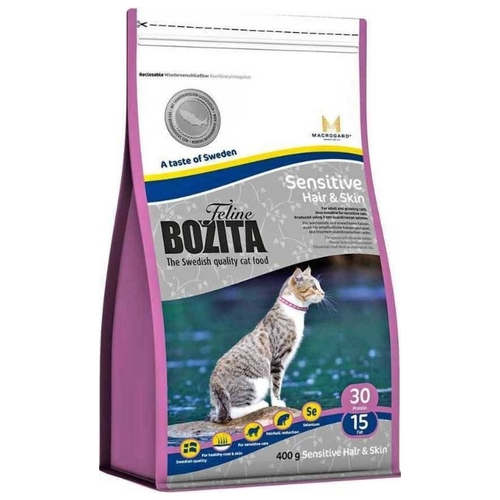 Корм для кошек Bozita Feline Funktion Sensitive Hair & Skin dry food (0.4 кг)