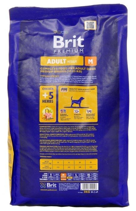Brit Premium Adult M (3 кг)