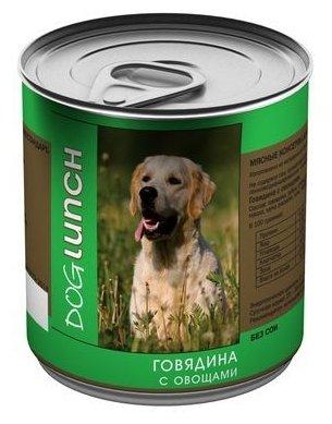 Корм для собак Dog Lunch (0.75 кг) 9 шт. Говядина с овощами в желе для собак