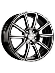 Racing Wheels H-423 6.5x15 4x98 ET 40 Dia 58.6 BK F/P - фото 1