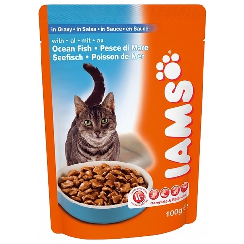 Iams Cat Pouch Adult with Ocean Fish in Gravy (0.1 кг) 1 шт. Корма для кошек