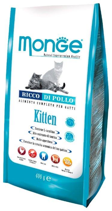 Сухой корм Monge (1.5 кг) Cat Kitten – для котят с курицей и рисом