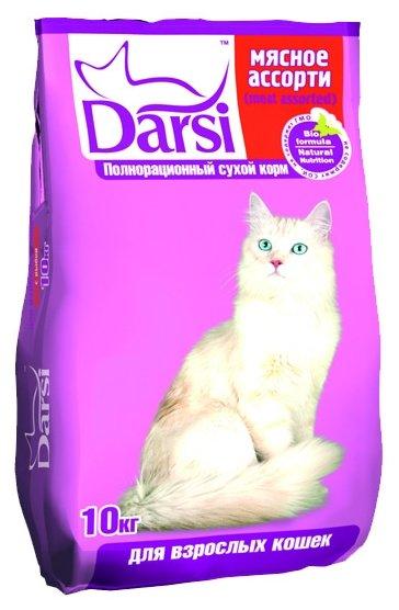 Darsi (10 кг) Сухой корм для кошек: Мясное ассорти
