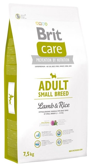 Корм для собак Brit Care Adult Small Breed Lamb & Rice