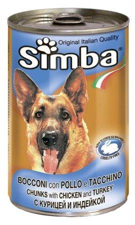 Корм для собак Simba Консервы Кусочки для собак Курица и индейка (1.23 кг) 12 шт.