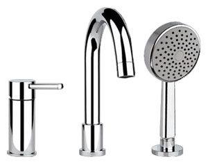 Однорычажный смеситель для ванны с душем Gessi Ozone 13837