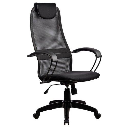 Компьютерное кресло Метта BP-8 PL офисное, обивка: текстиль, цвет: черный компьютерное кресло метта bp 2 pl офисное обивка натуральная кожа цвет 721 черный