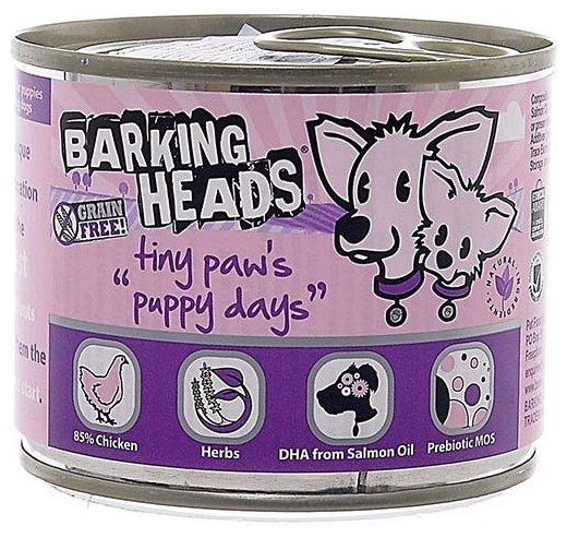 Корм для собак Barking Heads Консервы для щенков мелких пород с курицей Щенячьи деньки
