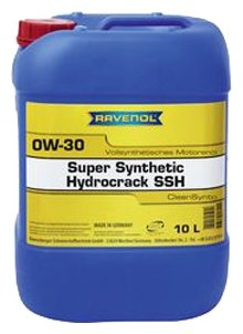 Моторное масло Ravenol Super Synthetic Hydrocrack SSH SAE 0W-30 10 л