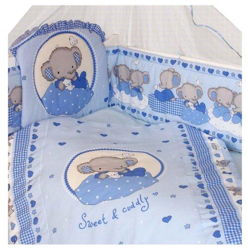 Купить Золотой Гусь комплект Слоник Боня (7 предметов) голубой, Постельное белье и комплекты
