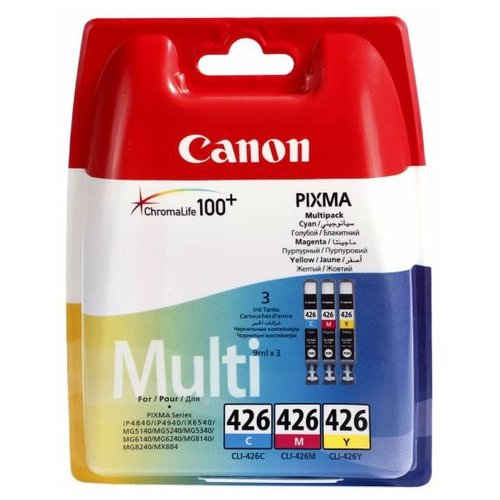 Фото - Набор картриджей Canon CLI-426 C/M/Y Multipack (4557B005/4557B006) набор картриджей canon pg 40 cl 41 multipack 0615b043