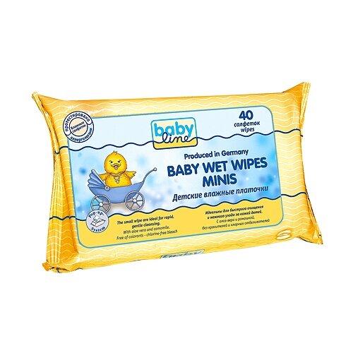 Купить Влажные салфетки BabyLine Baby Wet Wipes Minis 40 шт.