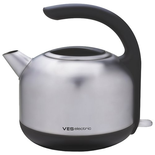 Чайник VES electric H-100-SS, серебристый чайник ves electric 2100 белый
