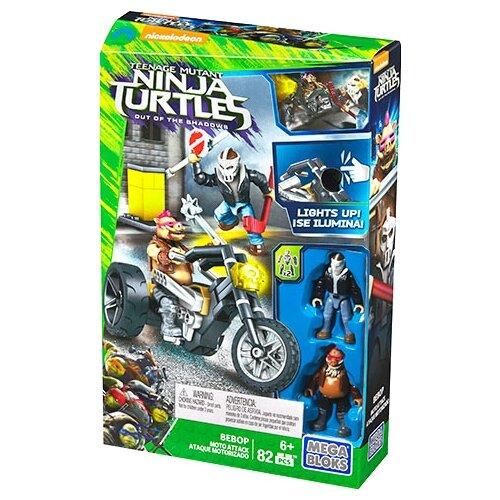 Конструктор Mega Bloks Teenage Mutant Ninja Turtles DPW11 Мотоатака Бибопа, Конструкторы  - купить со скидкой