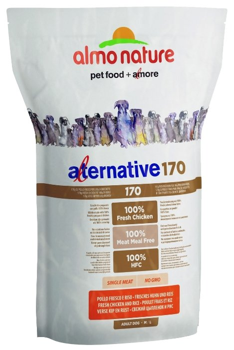 Корм для собак Almo Nature Alternative 170 Chicken and Rice M-L