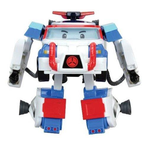 Купить Трансформер Silverlit Robocar Poli 10 см с костюмом астронавта белый/синий/красный, Роботы и трансформеры