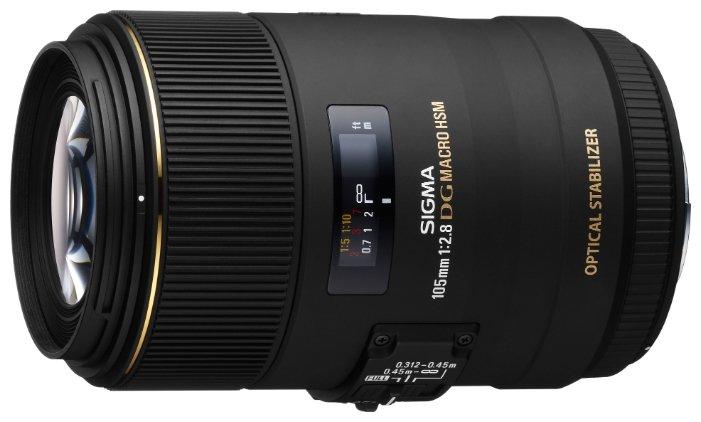 Sigma Объектив Sigma AF 105mm f/2.8 EX DG OS HSM Macro Canon EF