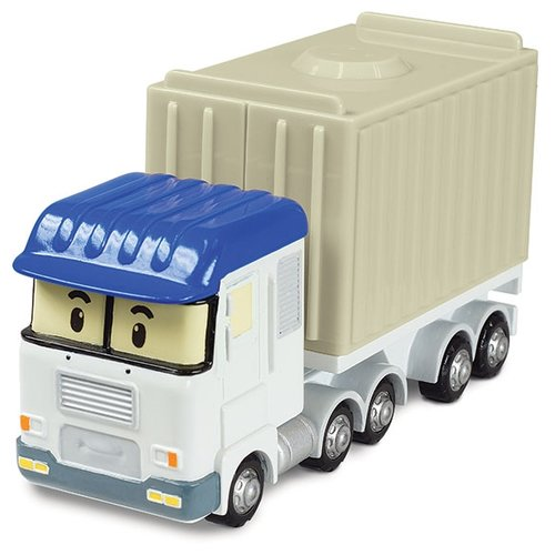 Купить Фура Silverlit Робокар Поли Терри (83257) 12 см синий/белый/бежелый, Машинки и техника