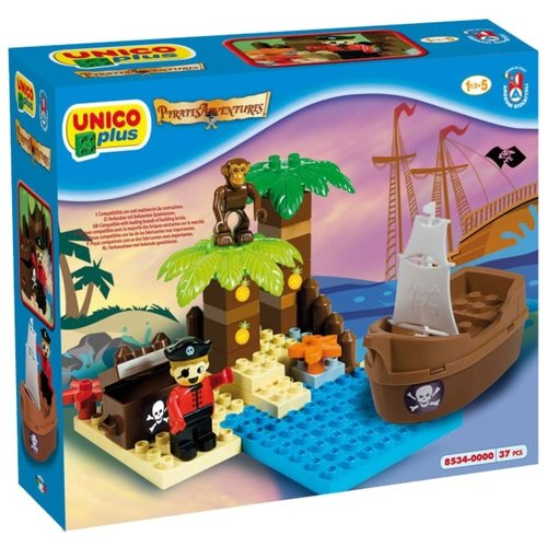 Купить Конструктор Androni Giocattoli Pirate Adventure 8534-0000 Остров сокровищ, Конструкторы