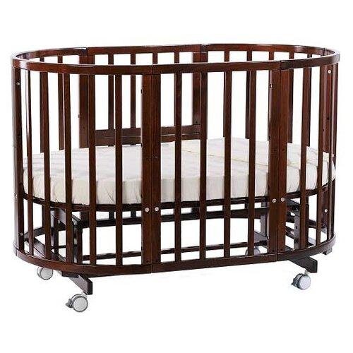 Купить Кроватка Nuovita Nido Magia 5 в 1 (трансформер), поперечный маятник темный орех, Кроватки