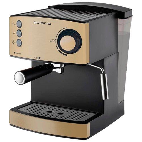 Кофеварка рожковая Polaris PCM 1527E бежевый/черныйКофеварки и кофемашины<br>