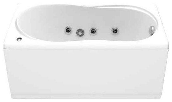 Отдельно стоящая ванна BAS Тесса с гидромассажем