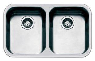 Врезная кухонная мойка smeg UM4040 76х45см нержавеющая сталь