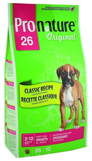 ProNature (20 кг) 26 Classic Recipe Lamb & Rice Formula для щенков всех пород