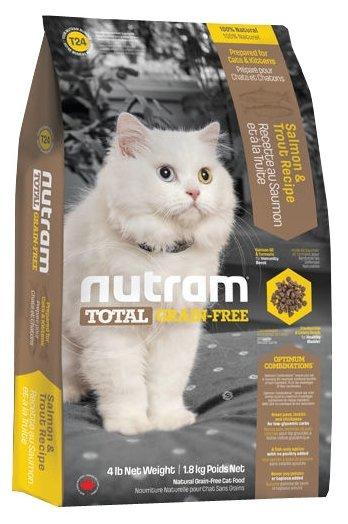 Nutram T24 Лосось и форель для кошек и котят (1.8 кг)