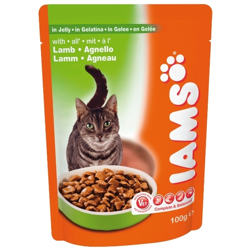 Корм для кошек Iams Cat Pouch Adult with Lamb in Jelly (0.1 кг) 22 шт.