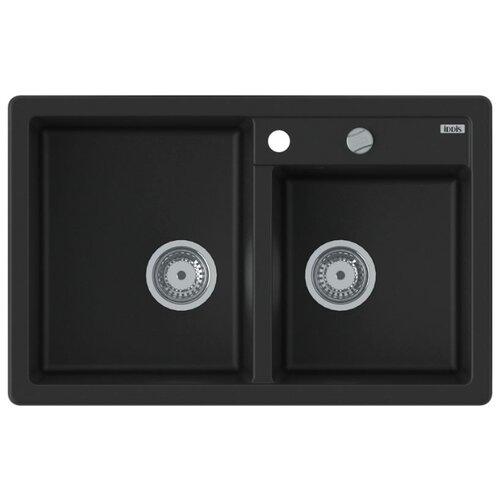 Врезная кухонная мойка 78 см IDDIS Vane G V21B782i87 V21B782i87 черныйКухонные мойки<br>