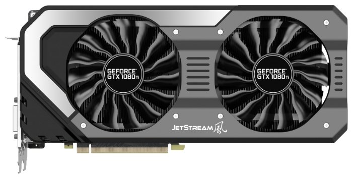 Palit GeForce GTX 1080 Ti 1480Mhz PCI-E 3.0 11264Mb 11000Mhz 352 bit DVI HDMI HDCP JetStream