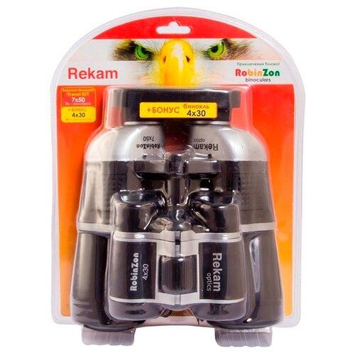 Бинокль Rekam Robinzon Travel KIT 7x50 4x30 черный  - купить со скидкой