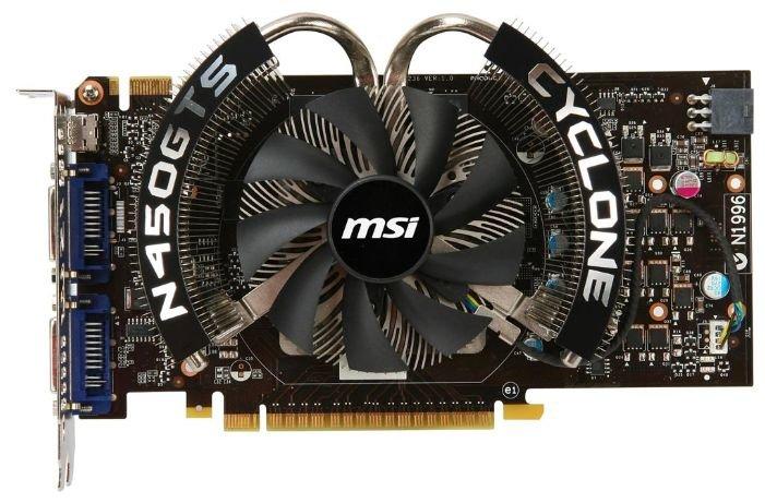 MSI GeForce GTS 450 783Mhz PCI-E 2.0 1024Mb 3608Mhz 128 bit 2xDVI Mini-HDMI HDCP Cyclone